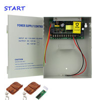 12V 5A Switch Power Supply AC110~260V Access Control Power Supply +metal box +back up battery function Power Remote Control
