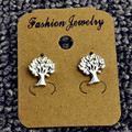 Fashion jewelry gold silver plated matte tree stud for women men lovers' gift  E3277