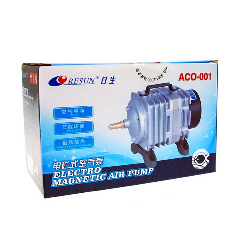 Free Shipping NEW Resun ACO-001 High Quality18W 38L/mini Aquarium Fish Tank Pond Electromagnetic Air Compressor Pump