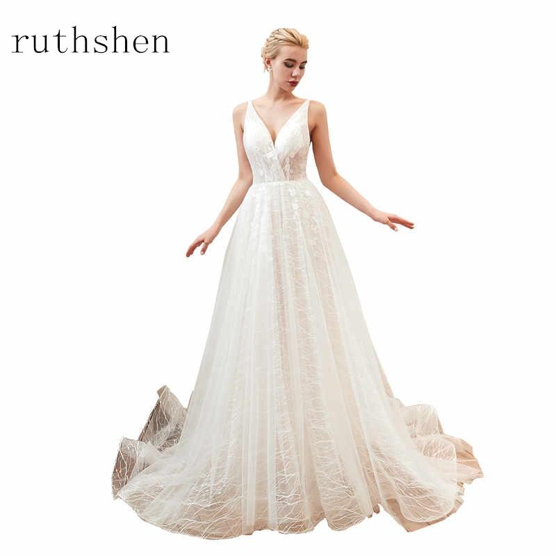 2019 Simple Wedding Dress Boho Bridal Gown Tank A Line Tulle Wedding Gown Vestido de Noiva Robe De Mariee