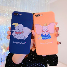 Cute Elephant Fashion Emboss Phone Case For iphone Xs MAX XR X 6 6s 7 8 Plus Lovely Cartoon Dumbo Soft TPU Back Cover