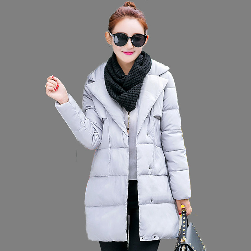 Women Clothing New Winter Cotton Coat Stand Collar Wadded Jacket  Loose Padded Single Breasted Down Cotton Parka Outerwear AA347