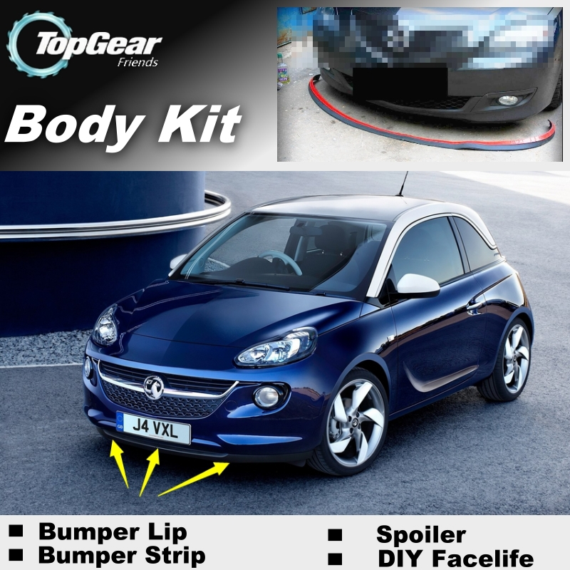 bumper lip deflector lips for vauxhall adam 2012 2015. Black Bedroom Furniture Sets. Home Design Ideas