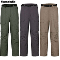 Mountainskin Men's Summer Quick Dry Removable Fishing Pants Outdoor Sports Pants Male Breathable Hiking Trekking Trousers RM048