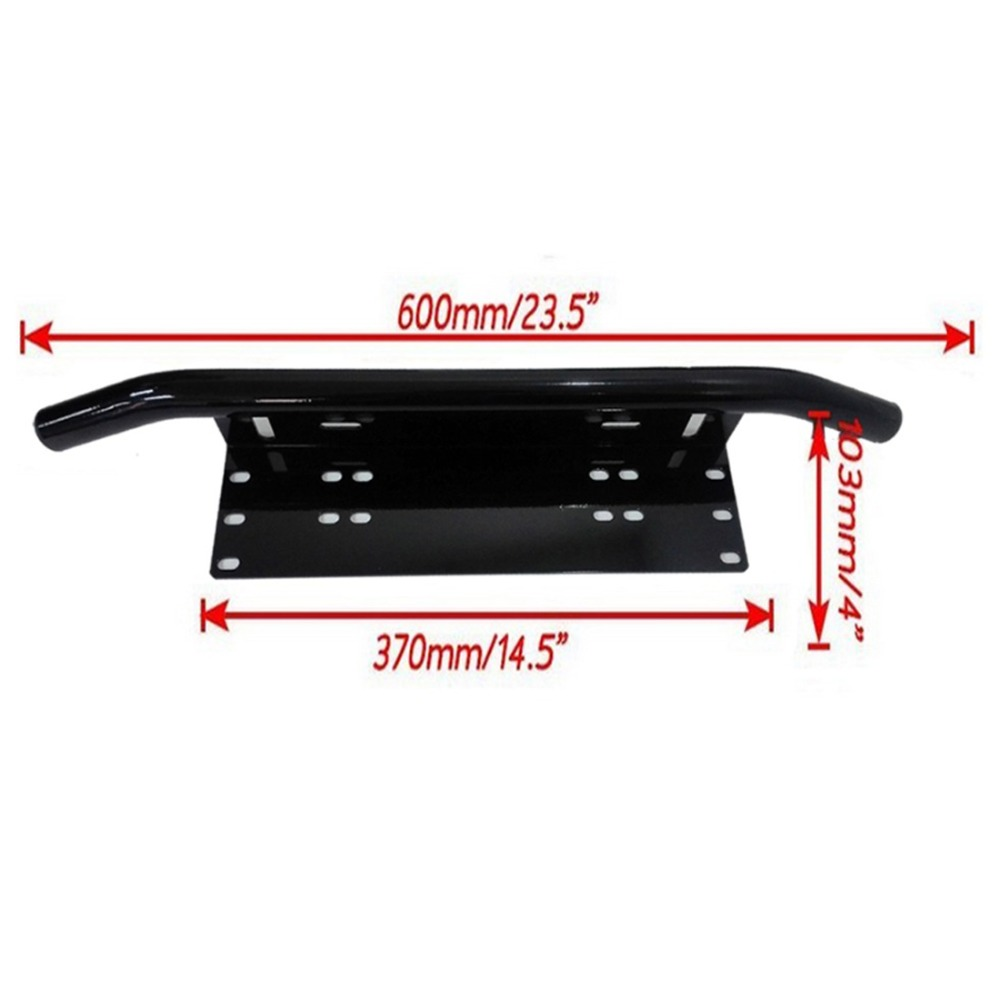 License Plate Bull Bar Front Bumper Mount Bracket Holder Offroad Day Light Bar For Off-Road Lights, LED Work Lamps