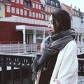 Пряжи шарф осенью и зимой утолщение долго дизайн искусственного мыс двойной тепловой глушитель шарф