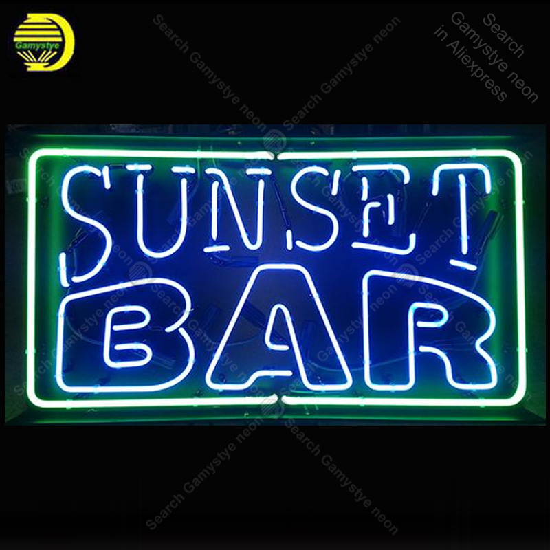 Neon Sign for Sunset Bar Neon Bulb sign Beer Bar Pub Restaurant Display handcraft glass tube light Art Decor wall lamps for saleNeon Sign for Sunset Bar Neon Bulb sign Beer Bar Pub Restaurant Display handcraft glass tube light Art Decor wall lamps for sale