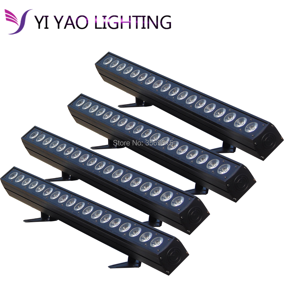 Commercial Lighting Lights & Lighting Persevering 4pcs/lot Disco Dj 18pcs Rgbwa Led Wall Washer Light 18x12w Rows Multi Color Dmx