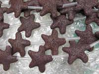 25mm 40mm 2 nici lava wulkaniczne klejnotów wysokiej jakości gwiazda kawy brązowy asortyment koraliki do biżuterii