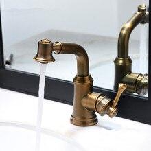 Античный выдвижной кухонный распылительный смеситель/умывальник для ванной комнаты кран для раковины одно отверстие/ручка