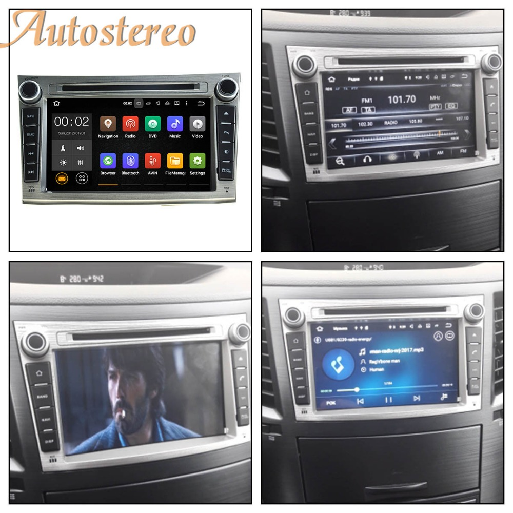 Android 8.0 Voiture CD Lecteur DVD Pour Subaru Legacy Outback 2009-2014 voiture GPS navigation headunit multimédia radio bande enregistreur IPS