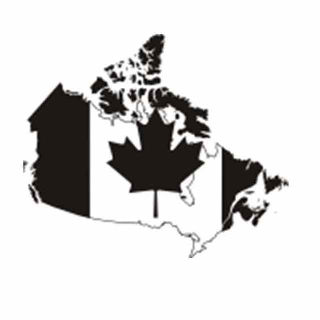 Canada Map Poster Decal Posters Art Vinyl Wall Decals Pegatina