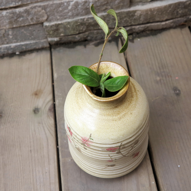 Ceramic crafts gift vase flower furniture decoration accessories