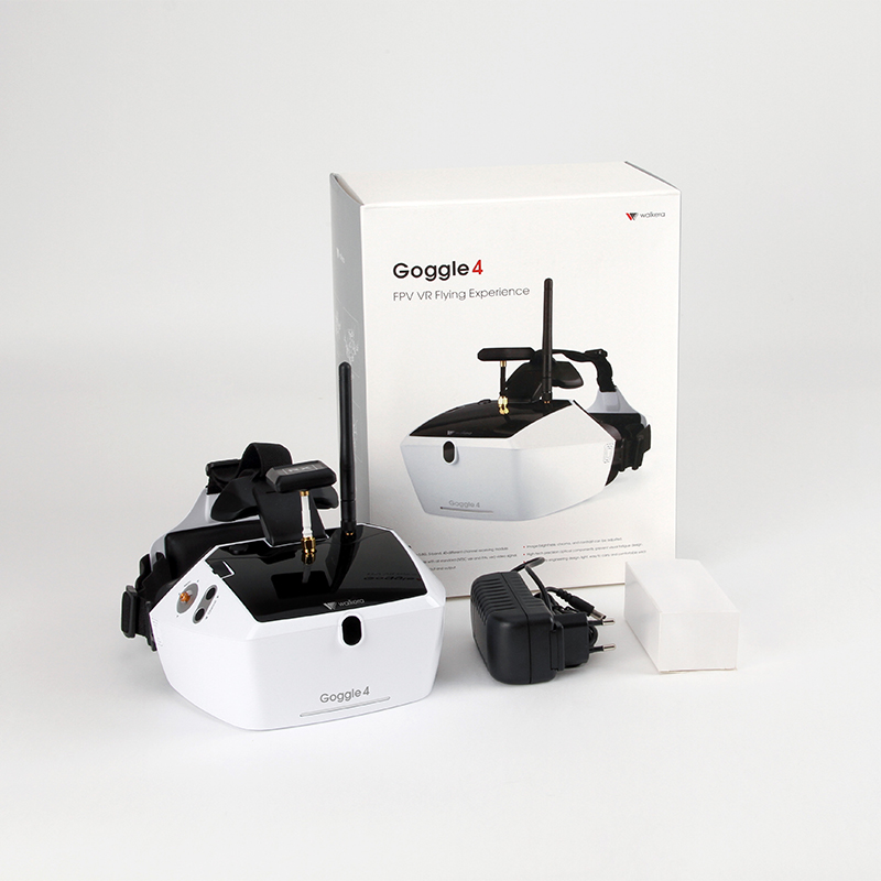 Walkera Goggle 4 FPV Glasses with 5 inch HD Large Screen Racing Drone Aerial 3D Glasses for FPV Drone with Camera original walkera devo f12e fpv 12ch rc transimitter 5 8g 32ch telemetry with lcd screen for walkera tali h500 muticopter drone