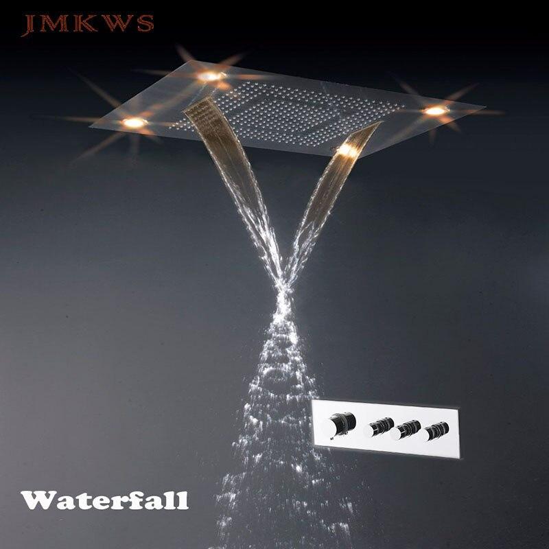 Multi-function Shower Bathroom LED Shower Head Set Thermostatic ...
