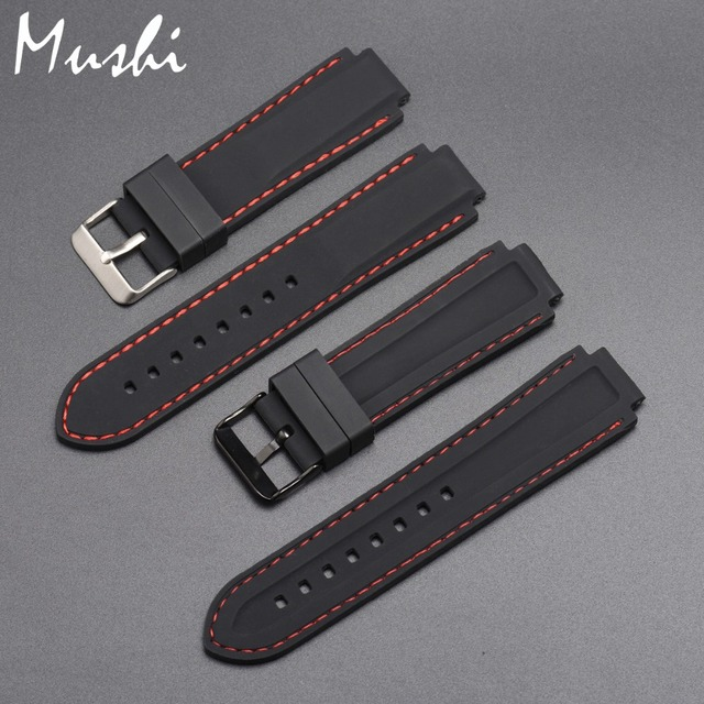 Silicone Rubber Watchband For Timex T49859|T2N720|T2p141|T2n722|723|738|739 Strap Quality black waterproof watch strap with tool