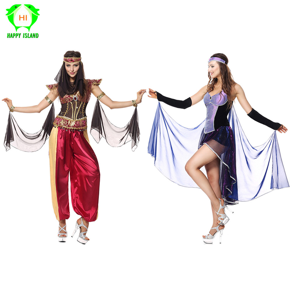 Arab and India Girl Costumes Greek Queen Cleopatra Costume Egypt Women Girls Cosplay Clothes Adult Carnival Party fancy Dress image