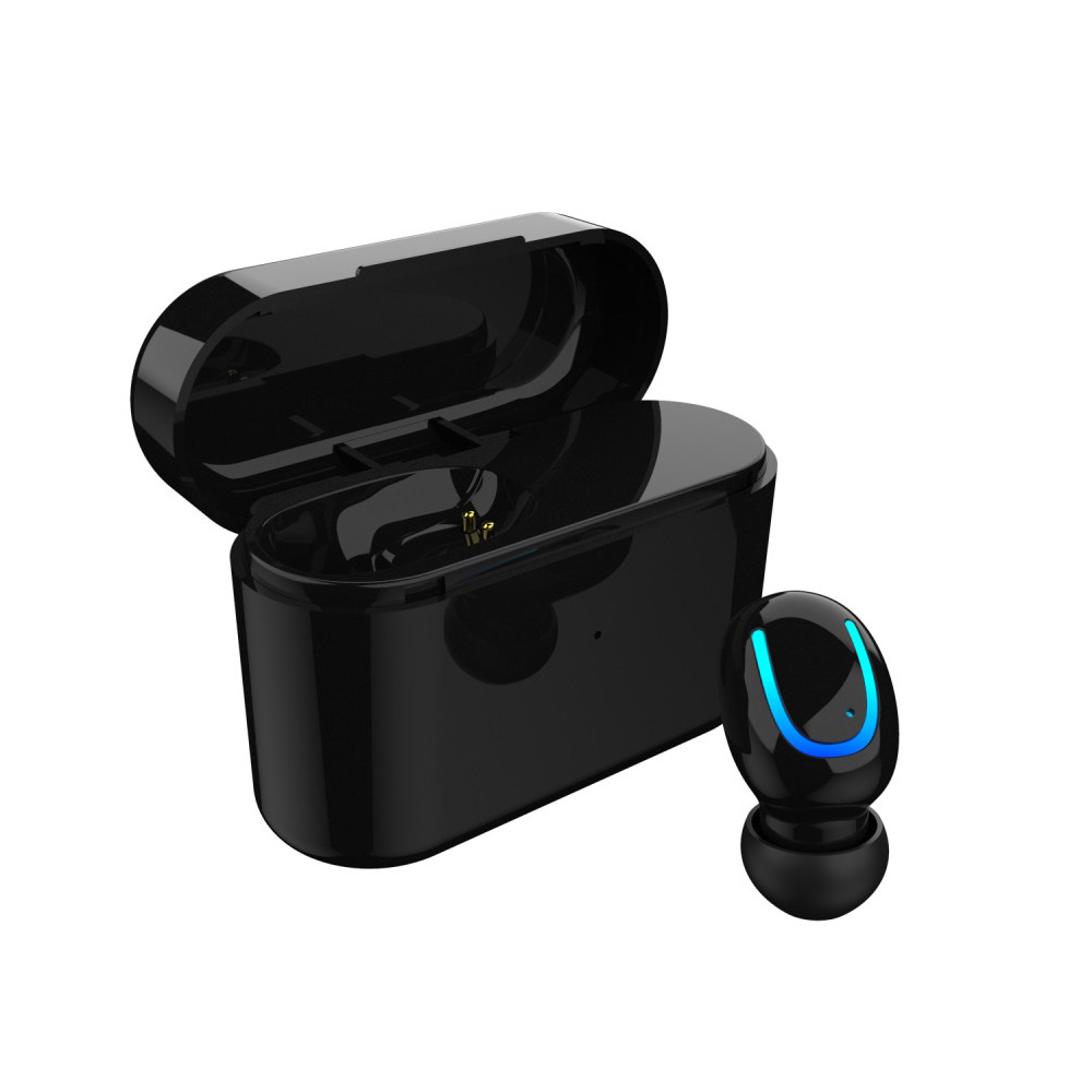 VOBERRY Wireless Stereo Headset Universal Mini Single Bluetooth 4.2 In-Ear Earphone Earbuds Magnetic Charging Box With Mic DD