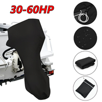 56.69inch 600D Black Boat Full Outboard Engine Cover For 30 60 Hose power Motor Waterproof