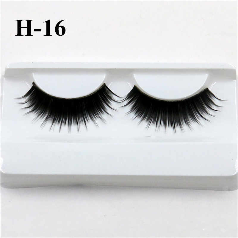 b1a64727c7a Russian Volume Thick False Lashes 3D Wispy Lashes Wimpers Long Fake Eyelash  Faux Mink Lashes Professional