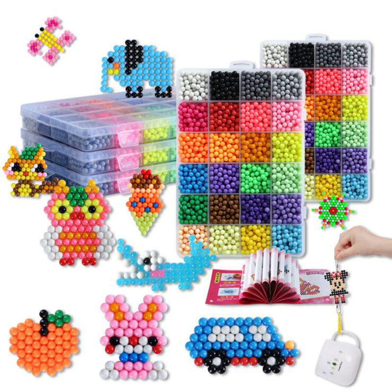 New 5mm Magic Water Perler Beads Set DIY 3D Puzzles Toys Hama Beads Educational Kids Gift Boy Girl Luxury Accessories 5200pcs