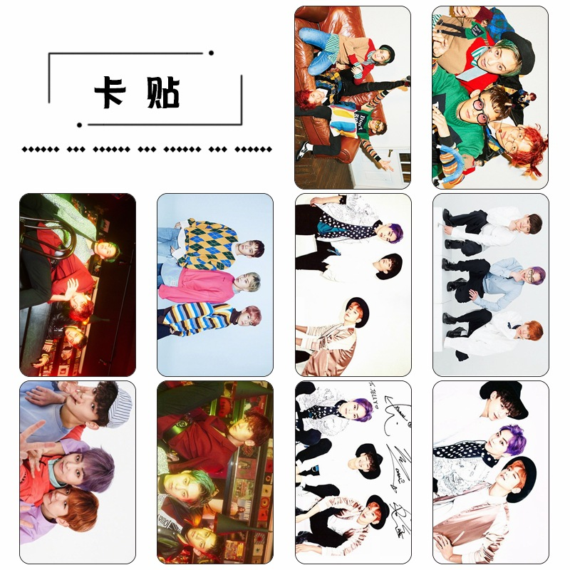 [TOOL] Kpop EXO Mini two series CBX Jinzhong dajinmin Tin Bo Xian crystal stickers public transport 10 pcs/set SB18053121 ...