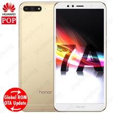 Huawei Onur 7A Küresel Firmware Octa Çekirdek Cep Telefonu 5.7 ''1440*720 P Snapdragon 430 Çift SIM Android 8.0 smartphone