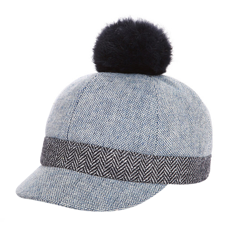 Skullies Beanies for Kids Fur Ball Cap Winter Hats Boys Girls Pompom Skullies