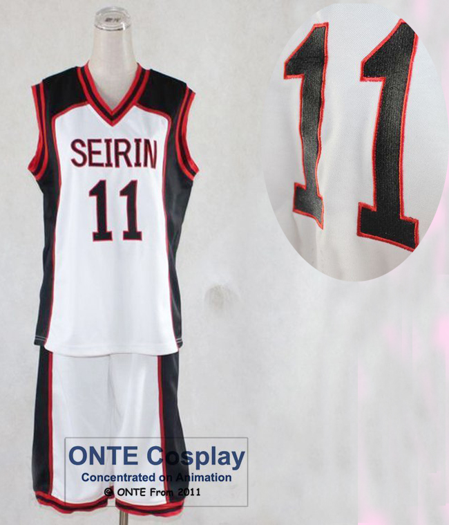Kuroko no Basuke cosplay Costume SEIRIN School wears Embroidery Stitchwork Men Jersey Blank / 10 / 11