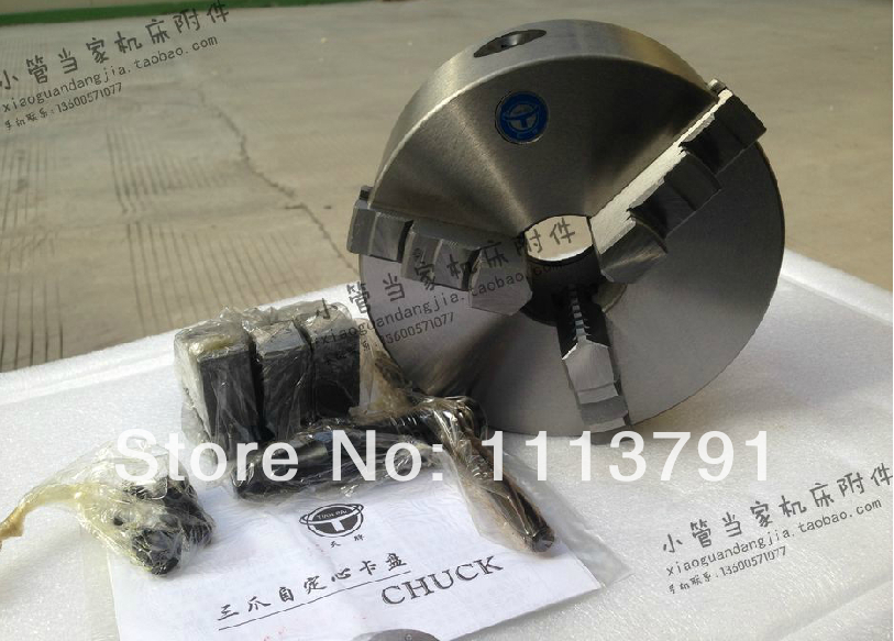 CNC Router Rotational Axis, jaw self-centering chuck K11-100 cnc milling machine part rotational a axis 80mm 3 jaw chuck