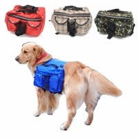 FH84 New Large Dog Bag Carrier Backpack Saddle Bags Camouflage Big Dog Travel Carriers Hiking Training