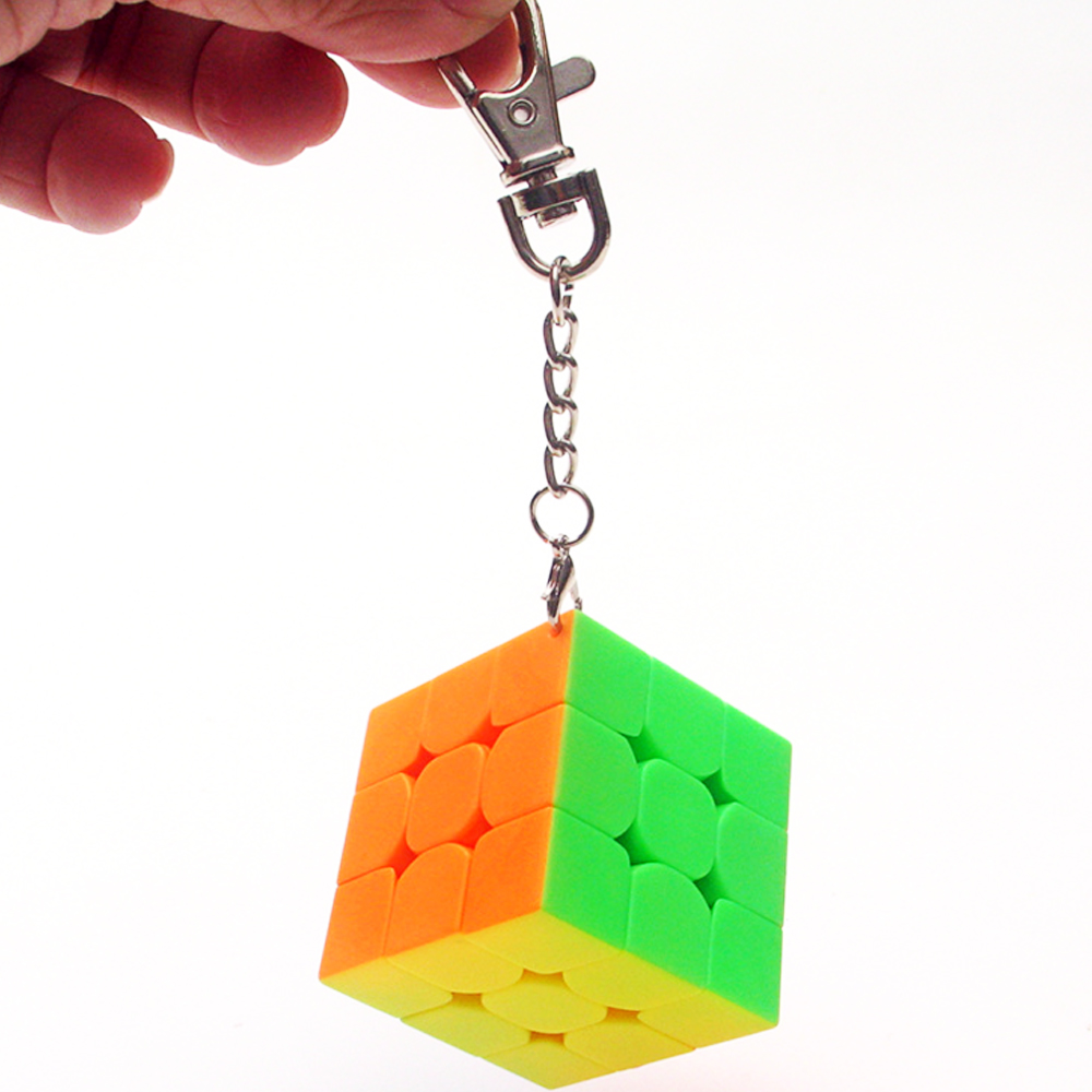 Magic Cubes Toys & Hobbies Humble 3.3cm Mini Puzzle Cube 3*3*3 On 3 Layers Magic Cube 3x3x3 Cubo Megico 3.5cm Stickerless Moyu Cube With Keychain Keyring