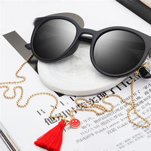 Womens Pendant Eyeglass Chains Red Tassel Smiley Sunglasses Reading Glasses Chain Eyewears Cord Holder Neck Strap Rope(China)