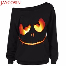 40f9e98c2156e Women Halloween Pumpkin Devil Sweatshirt Pullover Tops t shirts Plus Size  Holiday Tops Casual Tops sept5Dropship