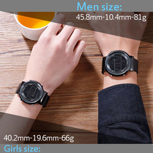 Relogio Digital Masculino Creative Sports Watches Men Women Fashion Milan Steel Band Wrist Watch Waterproof Led Digital Clock