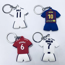 Football CR7 C.RONALDO Messi Bale Keychain Gift Men Women Soccer Star United Pogba Silver Soccer Club Fans Keychain Toy Sport(China)