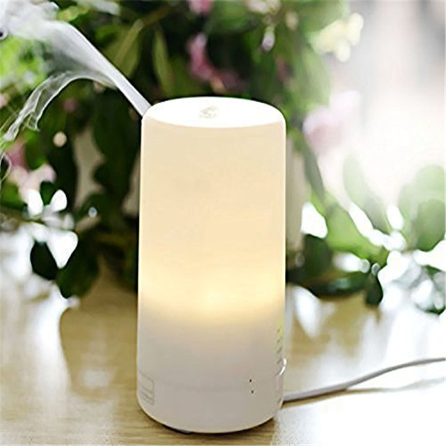 LED Night Light and Air Humidifier USB Mini Aroma Diffuser Humidifier Purifier LED Lonizer Aromatherapy 100ml for Home office an