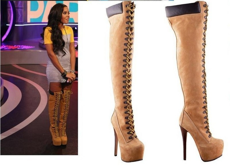 Popular Thigh High Boots Lace-Buy Cheap Thigh High Boots Lace lots ...