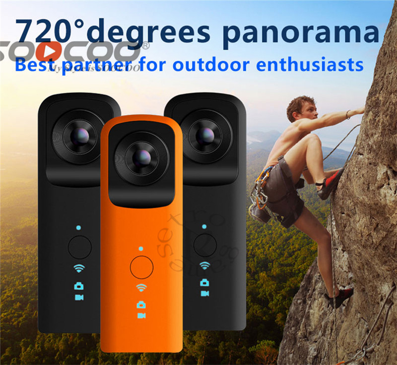 VR Camera 360 Camera Handheld Support WiFi Dual 1920 * 960 30fps 210 HD Wide Angle FishEye Lens Panoramic Driving VR Action Cam vr 360 camera hd video panoramic view 180 degree wide angle dual fisheye lens panorama 360 camera for android smartphone