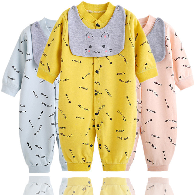 Infant Jumpsuits Clothes Spring Autumn Baby Boys Girls Cotton Rompers Newborn Bebe 6M 12M 18M Summer Clothing Clj011