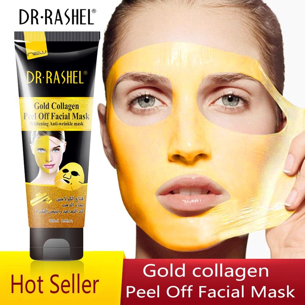 Mask gold collagen peeling facial mask beauty maschera viso gel a peel masks whitening anti wrinkle face masque DR.RASHL 120 ml