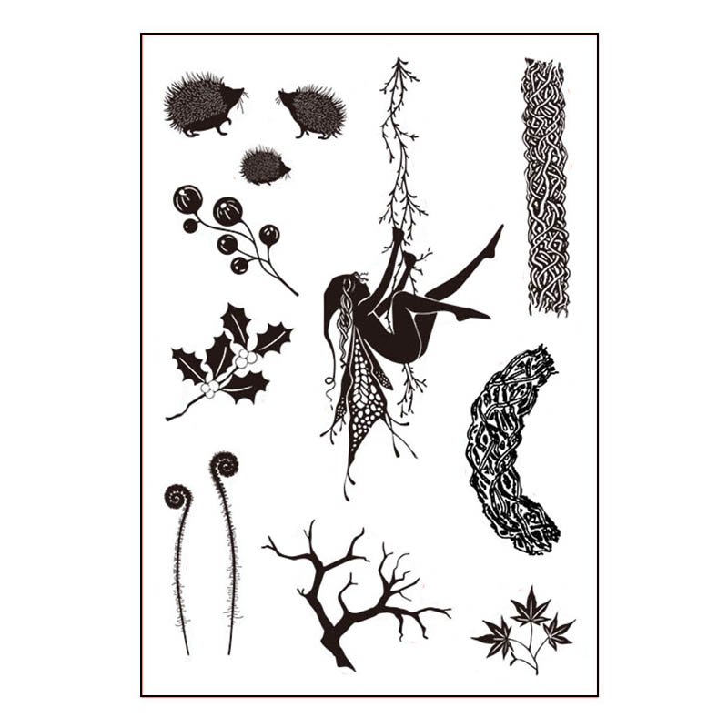 Fairy Climbing The Vine Branch Transparent Clear Stamp For DIY Scrapbooking/Card Making/Kids Christmas Fun Decoration Supplies