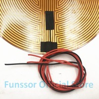 Funssor 330mm 12V/24v 120W Round Polyimide film Heater bed NTC3950 Thermistor for DIY Delta/Kossel 3D Printer