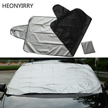 Car exterior protection Snow blocked Car Covers Snow Ice Protector Visor Sun Shade Fornt Rear Windshield Cover Block Shields(China)