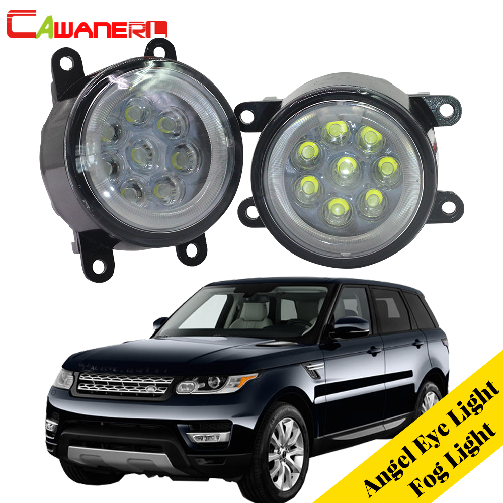 Cawanerl For Land Rover Range Rover Sport LS Closed Off-Road Vehicle 2006-2013 Car LED Fog Light Angel Eye Daytime Running LightCawanerl For Land Rover Range Rover Sport LS Closed Off-Road Vehicle 2006-2013 Car LED Fog Light Angel Eye Daytime Running Light