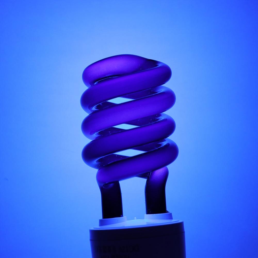 Lighting Ultraviolet Fluorescent Spiral Enegy-Saving 220V 15W 12v E27 CFL UV Black