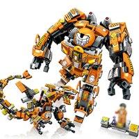 Mini Toy Blocks Iron Man Knitting Machine A Warrior Model Gift Toys Avenger Series Boys Assembled