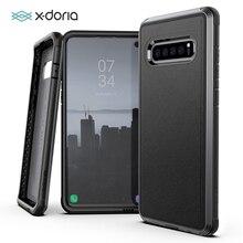 X Doria Difesa Lux per Il Caso di Samsung Galaxy S10 Più S10e Grado Militare Goccia Testato Copertura Della Cassa in Alluminio Anodizzato per S10 Più