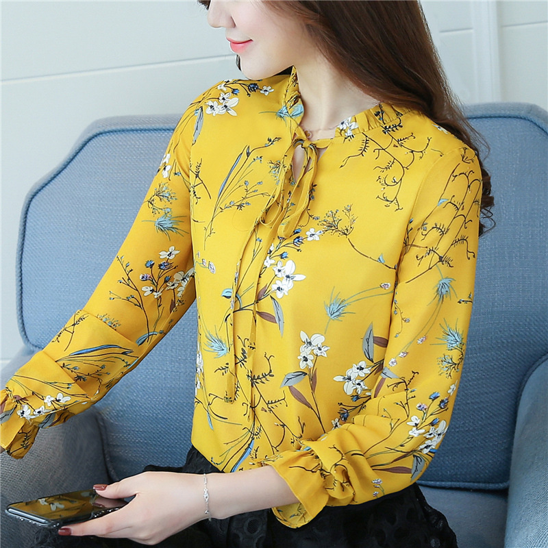 women blouses shirts woman blusas tops 2019 summer office work long sleeve ruffles elegant shirt blouse womens Plus size white 11