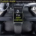 Car Floor Mats for JEEP Compass Custom Carpets Car Styling Customized Specially for JEEP Wrangler Commander Patriot